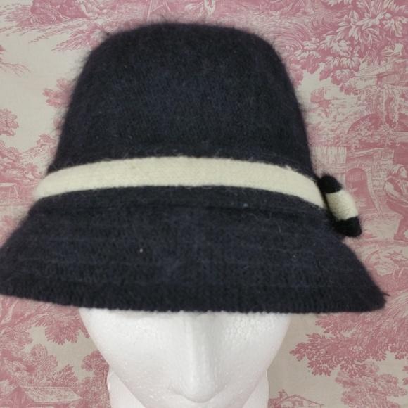 382b6ca932232 Betsey Johnson Cloche Hat Womens Wool Rabbit Hair